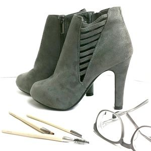 Lane Bryant Vegan Suede Cut Out Ankle Booties 7W